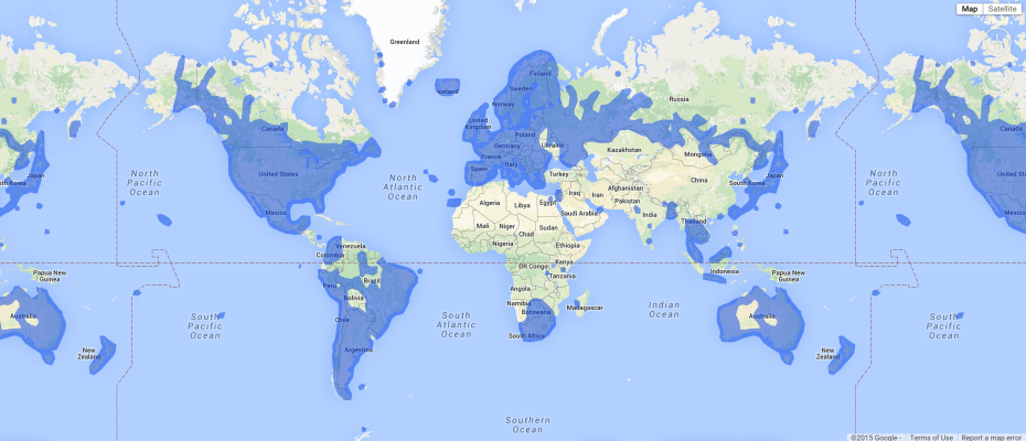 Everywhere Google's Street View imagery is available across the world