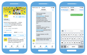 Buying Indosat smartphone packages through Twitter DMs