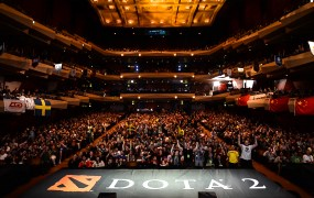 A large crowd at an esports event.
