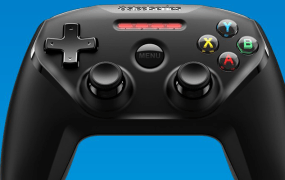 The Steel Series Nimbus controller.