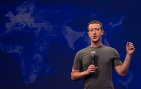 Facebook chief executive Mark Zuckerberg on stage at the company's F8 developer conference in San Francisco, Calif.