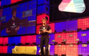 Paddy Cosgrave, founder of the Web Summit on stage in November 2014.