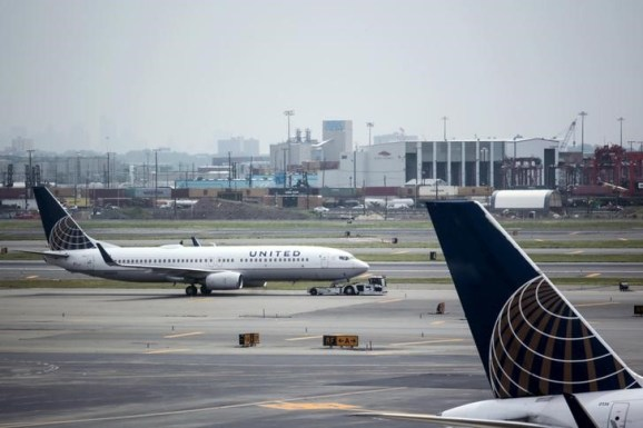 United Airlines planes are seen on platform at the Newark Liberty International Airport in New Jersey, July 8, 2015.