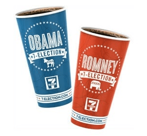 7-Eleven's election cups from 2012.