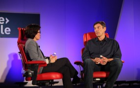 AOL chief Tim Armstrong speaking at the Code Mobile conference Wednesday night.