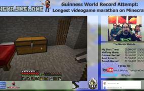 Joe Kelly's Minecraft marathon.