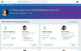 LinkedIn Referrals Screenshot