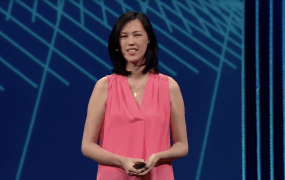 Facebook's Head of Payments & Commerce Deborah Liu speaking at the company's F8 2015 developer conference.