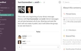 Group DMs in Slack on Mac.