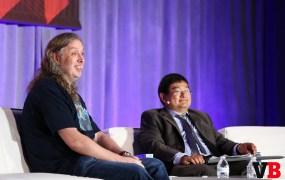 Graeme Devine, the chief creative officer at Magic Leap, at GamesBeat 2015 with Dean Takahashi.