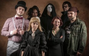 """Live-action role players enjoying a game of """"Vampire: The Masquerade."""""""