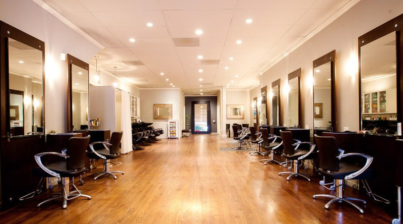 The inside of the Red Chair Salon in San Francisco, Calif.