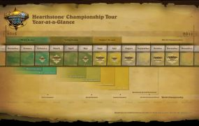 The Hearthstone Championship  Tour schedule.