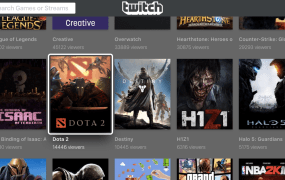 Twitch running on Xcode's simulator of the new Apple TV.
