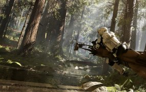 DICE has captured the speed of the Endor chase in its Battlefront game.