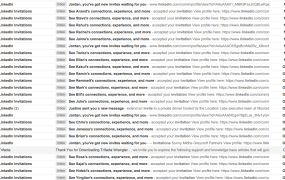 Drowning in LinkedIn emails