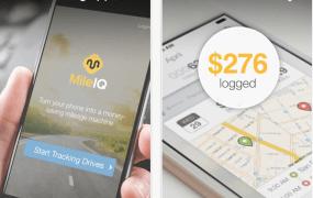 The MileIQ app on iOS.