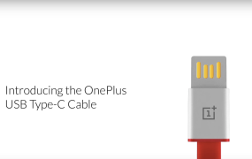 The OnePlus USB Type-C cable, as advertised in a OnePlus video.