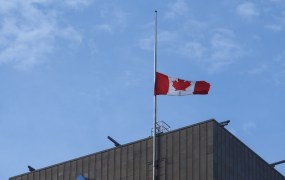 The Canadian flag was at half mast this week in Montreal.