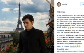 Telegram CEO Pavel Durov on Instagram.