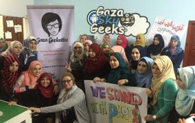 gaza geekettes stand for Paris