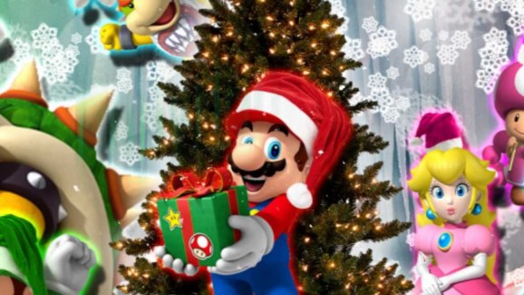 Wish I could use a Super Mushroom to put the star on the top of my tree.