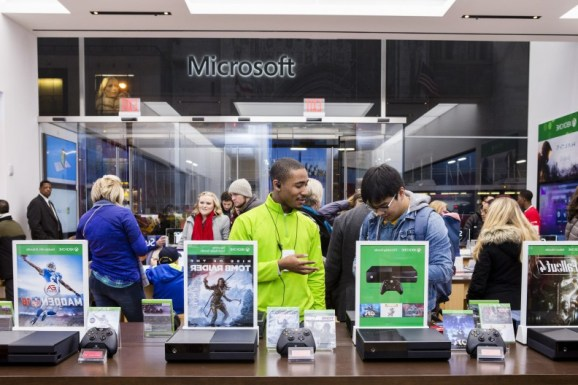 Microsoft's flagship store during Black Friday.