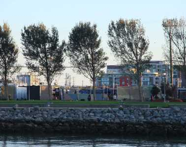 A yard of shipping containers turned into restaurants lies hidden next to McCovey  Cove.