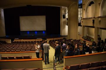 Palo Alto High School's Stage Tech class tours the completed Performing Arts Center