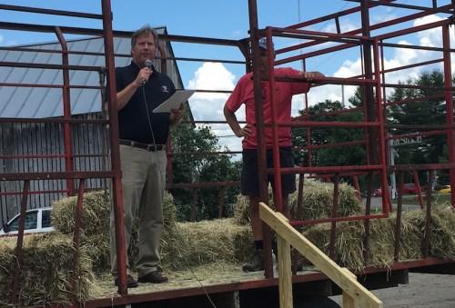 John Meyers, CEO of the Holstein-Friesian Association, speaks.