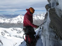 Making a belay amidst the ice