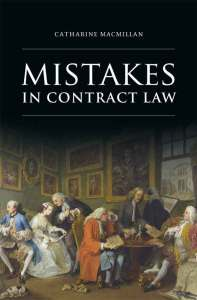 Buchcover von MacMillan Mistakes in Contract-Law