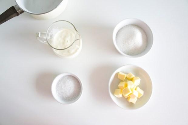 caramel beurre salé - ingrédients