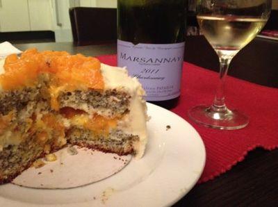 gâteau clémentine et pavot glaçage intérieur