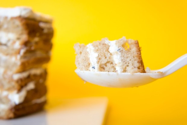 Cake earl grey banane et dulche de leche - Banana cake earl grey swiss buttercream