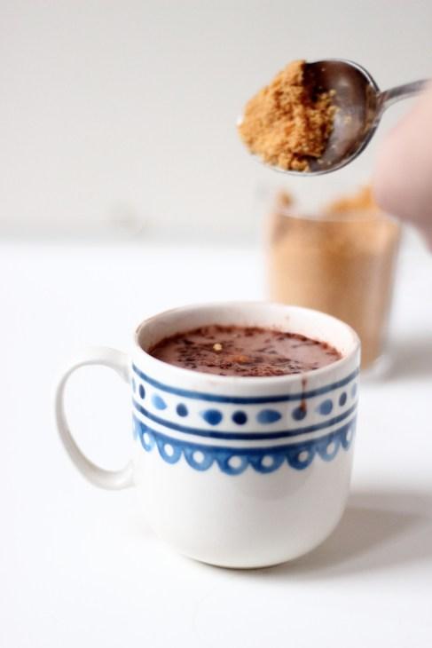 Mix pour chocolat chaud et poudre de caramel