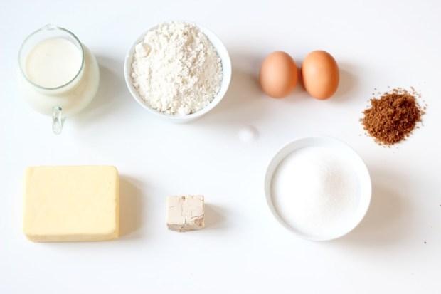 Ingrédients Petits pains briochés à la cannelle
