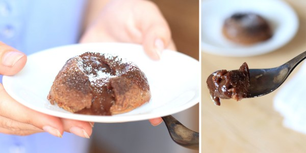 coulant chocolat et beurre de noisettes