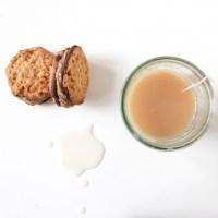 Biscuits cacahuètes, café et chocolat