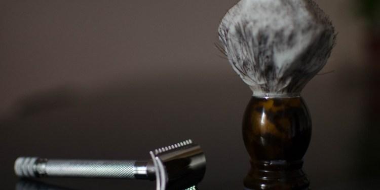 Rasage traditionnel blaireau rasoir de surete