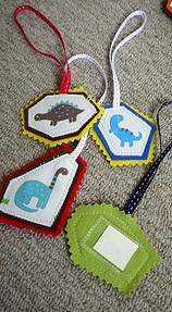 Dinosaur bag tags
