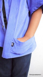 Indigo blue corduroy shirt