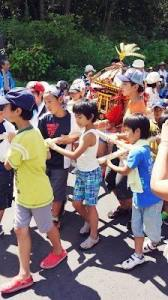 Kids&#8217; Mikoshi parade