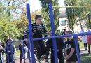 В Першотравенске появилась площадка для воркаута