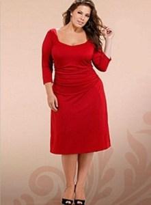 vestidos de fiesta para gorditas color rojo (1)