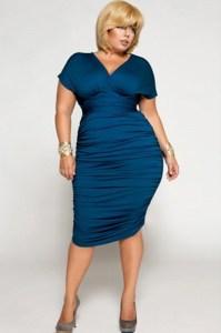 Vestidos de fiesta para gorditas color azul (6)