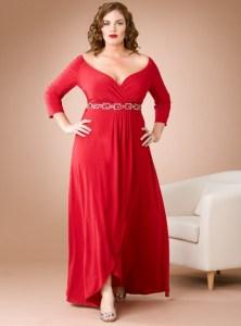 vestidos de fiesta para gorditas con mangas (4)