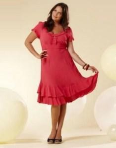 Vestidos de fiesta a la rodilla para gorditas (10)