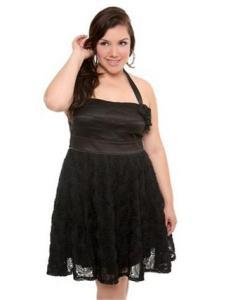 Hermosos vestidos de fiesta a la rodilla para gorditas (10)