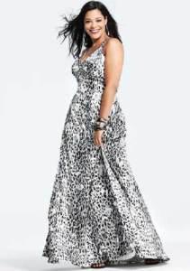 15 opciones de hermosos vestidos de fiesta para gorditas estampados (3)